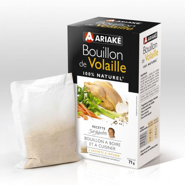 ARIAKE, Poultry bouillons to infuse, 5 sachets