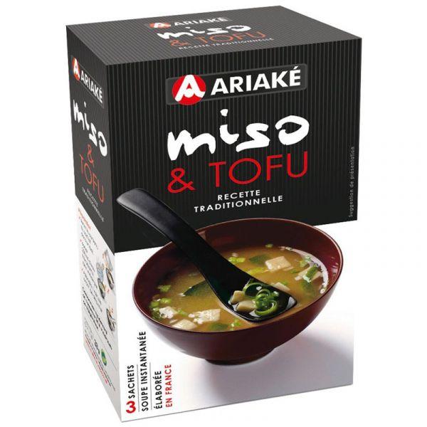 ARIAKE, Tofu Miso soup, 3 sachets