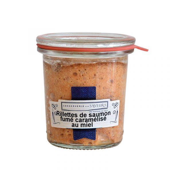 Rillettes de saumon fumé caramélisé au miel