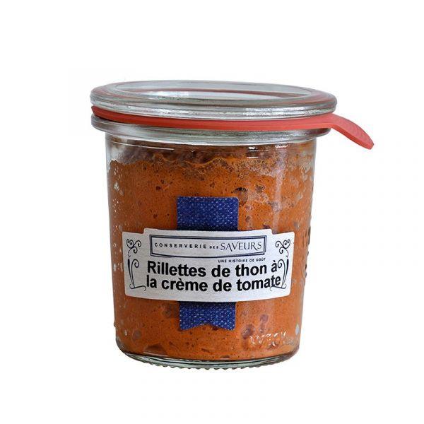 Rillettes de thon à la crème tomate