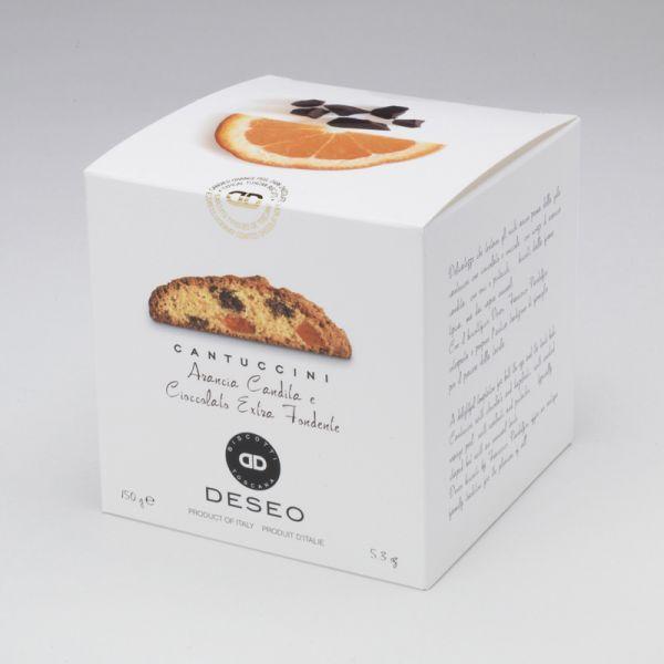 Cantuccini orange confite et chocolat noir