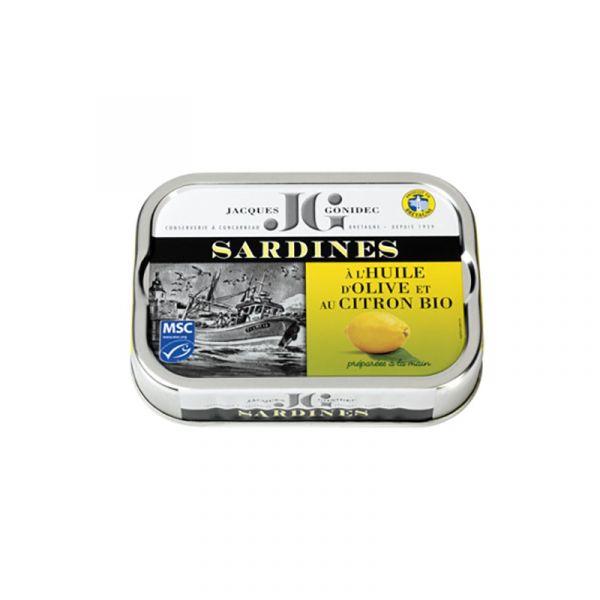 Sardines au citron à l'huile d'olive