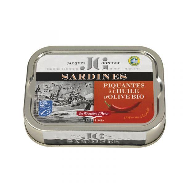 Sardines piquantes à l'huile d'olive