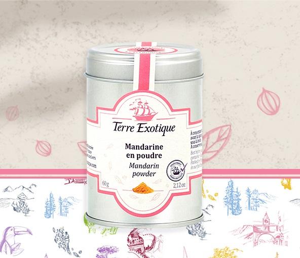 Mandarin powder - Terre Exotique